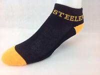 Pittsburgh Steelers For Bare Feet Pack Money Ankle Socks Black