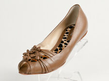 New  Baldinini Light Brown Leather Shoes Size 37 US 7