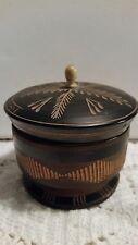 "Mexico: Vintage Round Trinket Box - 3.5"" X 3.5"" HANDCARVED W/ LID 150201002"