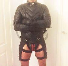 Leather Straitjacket Straight Jacket Bondage Padding Leather Belts Bespoke