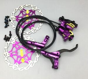 MTB XC bike Hydraulic Disc Brakes Calipers Front & Rear brake lever Rotors 160mm