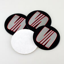 4Pcs 56.5mm Car Wheel Center Stickers Hub caps Emblem Cover Fit for Seat