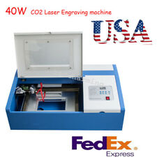 USA 40W CO2 Laser Engraving Cutting Cutter Machine DIY Engraver USB High Precise