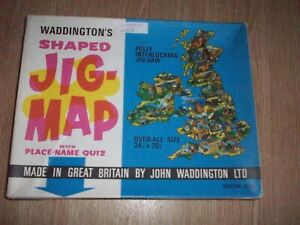 Waddingtons shaped jig-map  puzzle - BRITISH ISLES- 24x 20 #560 100% complete.#1