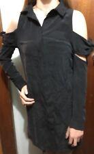 Kookaï Holiday Shirt Dress With Tie Shoulders Black Colour Sz 36 (e84)