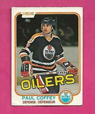 1981-82 OPC # 111 OILERS PAUL COFFEY  ROOKIE GOOD CARD (INV# D1954)