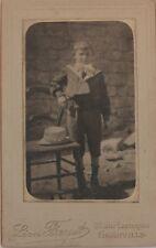 Jeune garçon Léon Fayet Granville Photographie Carte de visite Cdv Vintage