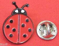 Ladybird Lapel Hat Cap Tie Pin Badge Red & Black Lady Bird Insect Brooch