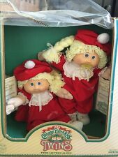 ��Vintage 1985 NRFB Cabbage Patch Kids Twins Coleco W/Papers Pacifier Dimples