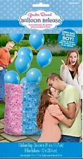 "Boy Gender Reveal Balloon Release Kit Balloon Bag 36"" x 44"" 8 Blue 12"" Balloons"