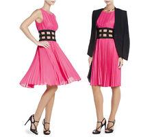 NWT BCBG MAX AZRIA ultra pink GISELE pleated elastic corset cocktail dress XXS