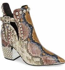 116679fdec36 Jeffrey Campbell Rylan-BH Grey Wine Snake Silver snakeskin-embossed leather  Boot