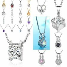 Fashion Crystal Necklace Heart Waterdrop Zircon Clavicle Chain Women Accessories