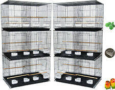 """Lot of 6 Center Divider Aviaries Budgies Canaries Flight Bird Cages 24x16x16""""H"""
