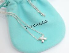 "Tiffany & Co. Sterling Silver Mini X Cross Pendant Necklace 16"""