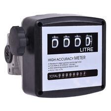 4 Digital Diesel Fuel Oil Flow Meter Counter Gauge High Accuracy 1% Mechanical