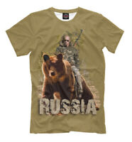 Putin ridding on a bear NEW t-shirt Russia Putin motherland Moscow 316705