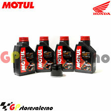 TAGLIANDO OLIO + FILTRO MOTUL 7100 10W30 HONDA 600 CB F HORNET 2000