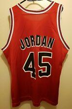 NWOT Champion Chicago Bulls Jordan #45 Red NBA jersey 44 L Paxson Harper 1994/95