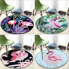 3D Soft Flamingo Carpet Anti Slip Mat Rug Bedroom Floor Mats Chair Pad Round