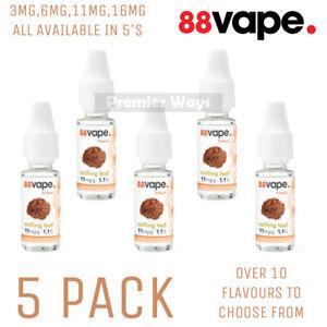 [5 PACK] - 88Vape Anytank Any Pen E-liquids 10ml Bottles Nicotine Vape Juice
