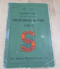 1942 Singer Sewing Machine Instruction Book using & adjusting 149-6