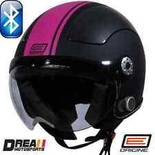 ORIGINE BLUETOOTH MATTE FLAT BLACK PINK OPEN FACE MOTORCYCLE HELMET DOT XS - XL