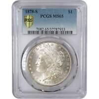 1878 S $1 Morgan Silver Dollar US Coin MS 65 PCGS