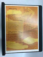 "Sister Corita Kent~Yellow Spring 1968 Poster 10x 14"" United Church Press"