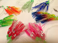 10 Sabiki 5 Octopus Squid Rigs Baits Fishing Lures Catch Hooks Glow in Dark Fish