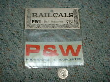 Accu-cals Rail-Cals  decals S O Gauge large scale Providence Worcester  E60