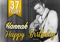 Personalised Elvis Presley Birthday Greeting Card A5