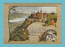 1044  -  PHOTOGLOB  ZURICH  POSTCARD  -  HOTEL  ANNABURG  OF  ZURICH  - 1900