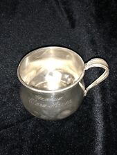 Prelude Sterling Silver Baby Cup Sanitary Sealed Edge K105-3