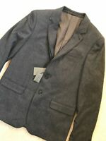"""ALL SAINTS GREY """"HOWTH"""" FITTED BLAZER COAT SPORTS JACKET - 36"""" & 38"""" - NEW TAGS"""