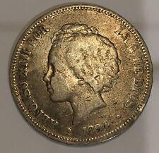 1894 SPAIN 🇪🇸 Silver 5 Pesetas Coin Spanish King ALFONSO XIII