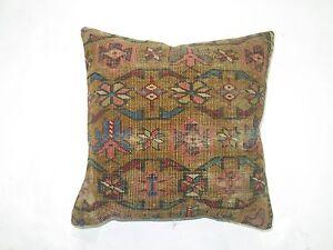 Pillow Made From An Antique Caucasian Kuba Rug