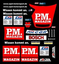 #3 OPEL V8 P.M. MAGAZIN DTM 2000 1/32nd Scale Slot Car Decals