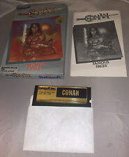Datasoft Commodore 64/128 Conan Famous Faces Game Disk Original Box Manual