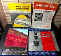 1950s Railroad Trains Magazines Railway Age Gulf Mobile Ohiuo General Railway