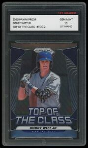 BOBBY WITT JR. 2020 PANINI PRIZM TOP OF THE CLASS 1ST GRADED 10 ROOKIE CARD KC