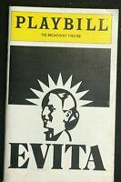 PLAYBILL - Dec 1979 - EVITA - Original Cast  PATTI LUPONE / Mandy Patinkin  b3-4
