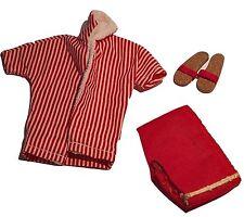 Vintage Barbie Mattel 1963 Ken Doll Red Stripe Swim Beach Outfit Cork Sandals