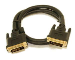3ft DVI-D Dual Link DIGITAL (28 AWG) Male to Male Gold Plated Cable