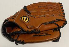 "New listing Wilson 13.5"" Aztec Leather A2505 Dual Hinge XXL RHT Softball Glove Great Shape"