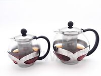 Uniware Glass Teapot With Stainless Steel Infuser,750 ml/1200 ml