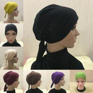 Muslim Cotton Bandage  Caps Hijab Islamic Underscarf Hat Arab Turban
