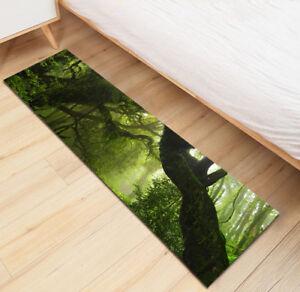 Green Jungle Rainforest old Big Tree Area Rugs Bedroom Rug Living Room Floor Mat