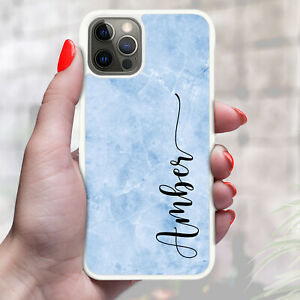 Personalised Marble Stone Texture Phone Case Cover For Apple Samsung etc - 01
