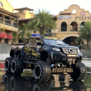 1:32 Diecast Off-Road Cab 4x4 Pickup Truck Model Pull back Car Toy For Kids